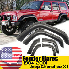 Pocket Rivet Style Wide Fender Flares For 84-01 Jeep Cherokee XJ 4Dr Cover Trim