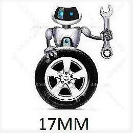 2 16 x Pernos de Rueda de Aleación Negro para BMW Mini M14 X 1.25 17MM tuercas lengüetas Tachuelas