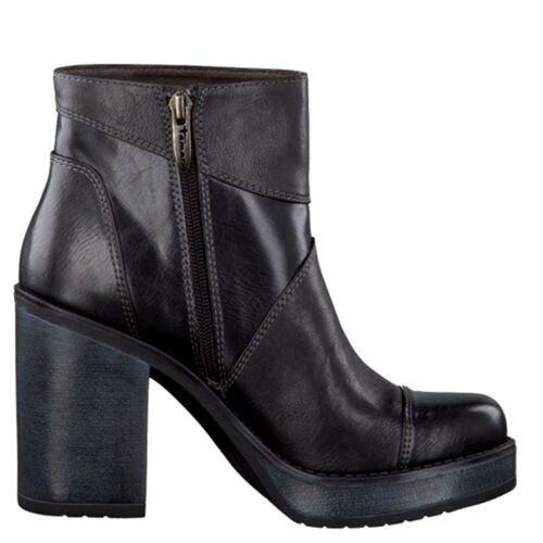 Block 5 Platform Heel Boots 40 Uk Womens High Ankle Black Zip 6 Tamaris Up Eu tvxRq6a