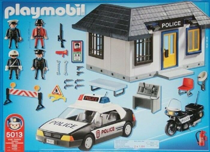 Playmobil 5013 – Police Station Complete Set Rare Collectible
