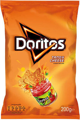 Walkers Doritos Tangy Cheese Flavour Corn Chips 180g