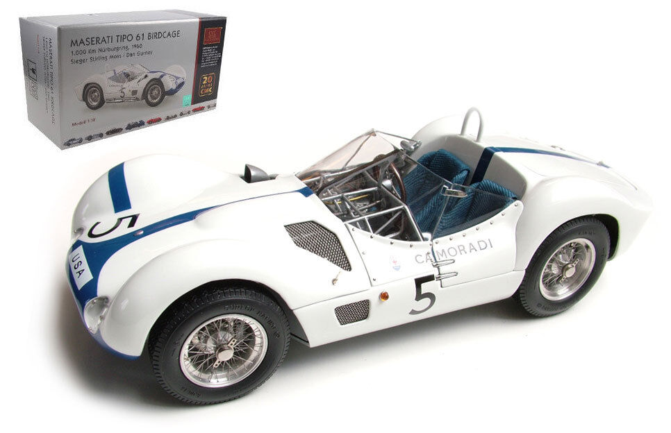 L'achat en deux parties est poli, très satisfait Cmc Cmc Cmc M-047 maserati tipo 61 birdcage 1000km nurburgring 1960-moss/gurney 1/18 | La Qualité Primacy  | Supérieure  5e0ee4