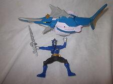 Power-Rangers Super samurai shark zord and blue ranger action figure
