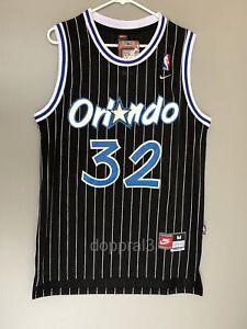 big sale b8c1c fd4ed Details about NWT Shaq Shaquille O'Neal #32 NBA Orlando Magic Throwback  Jersey Swingman Man