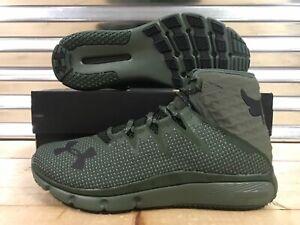Under-Armour-UA-Project-Rock-Delta-DNA-Shoes-Dark-Green-Black-SZ-3020175-300