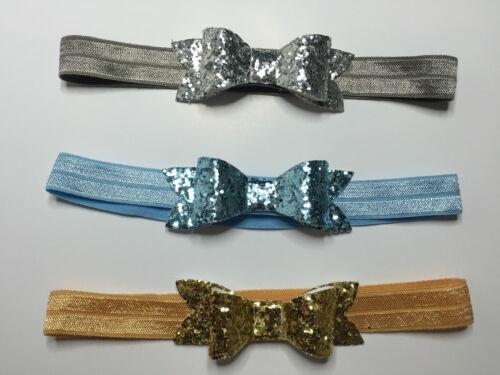 Handmade Glitter Fabric Headband Baby Girl Frozen Newborn Toddler Girls Lot