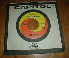 """BEATLES Orig 1964 """"I Want To Hold Your Hand"""" 45 Walter Hofer VG++/NM-"""