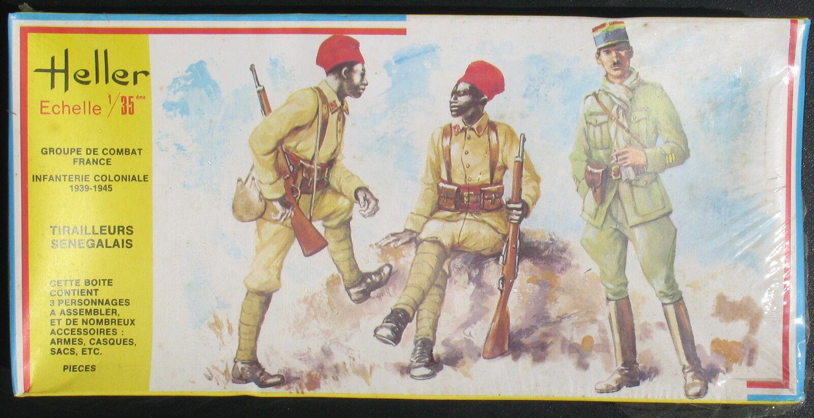 HELLER 137 - Französische Kampfgruppe  SENEGALSCHÜTZE - 1 35 - Soldaten Figuren