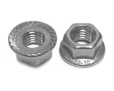 M6 SC-Normteile | SC6923 V2A DIN 6923 // ISO 4161 rostfreier Edelstahl A2 25 St/ück Flanschmuttern mit Sperrverzahnung Bundmuttern