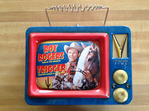 ROY ROGERS TRIGGER Metal Lunchbox Lunch Box Vander Tin Tote Television Picture