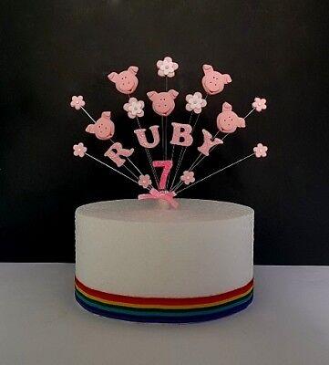 Marvelous Farm Animal Yard Pig Cow Sheep Birthday Cake Topper Funny Birthday Cards Online Benoljebrpdamsfinfo