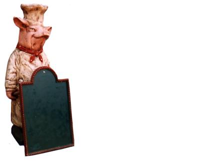 Iniziativa Ristorante Supporto Da Tavola Bistecca Figura Statua Scultura Figure Sculture Ristoranti-mostra Il Titolo Originale