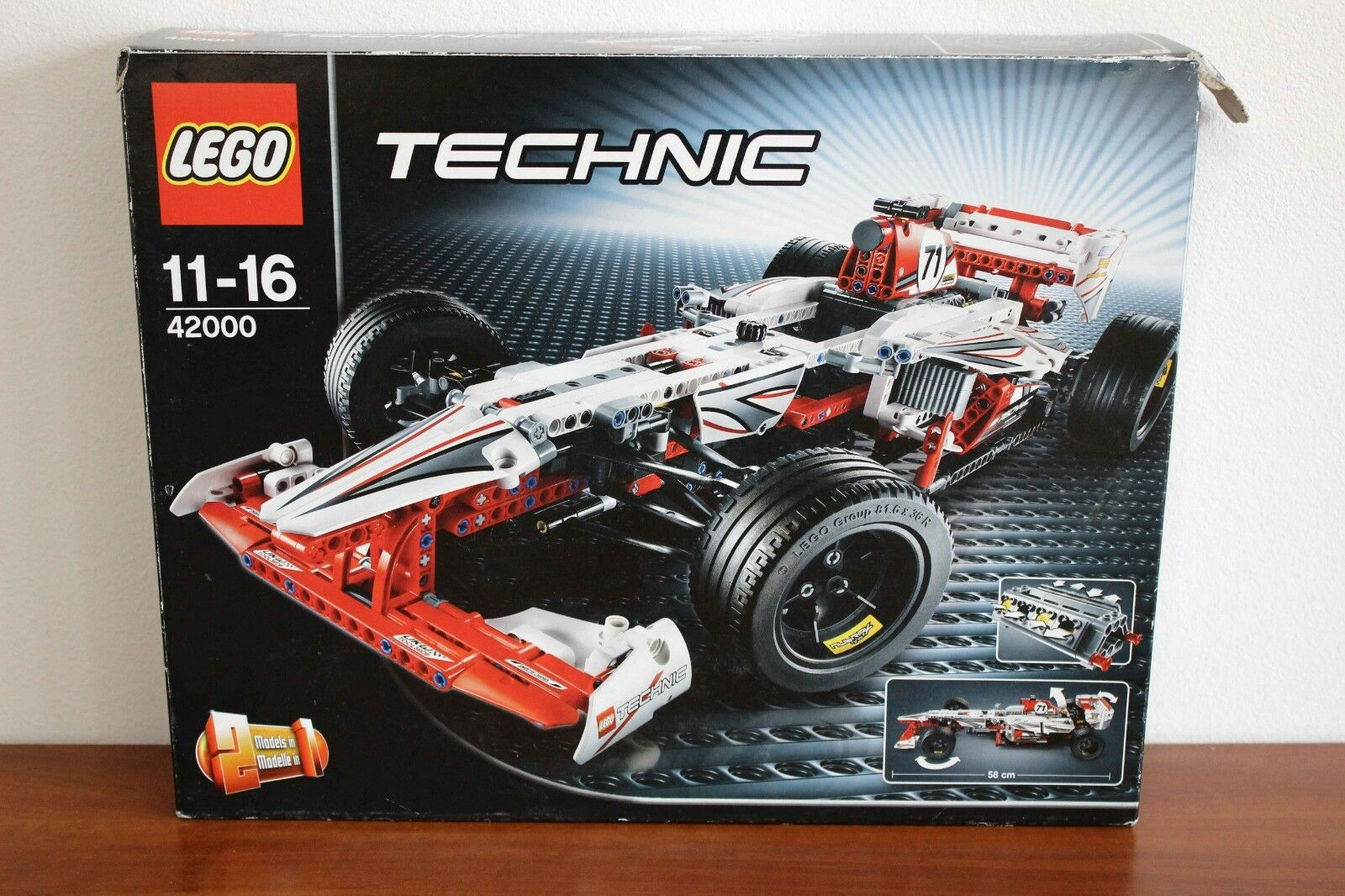 Lego Technic Model Race Set 42000-1 Grand Prix Race 100% complete + instr. + box