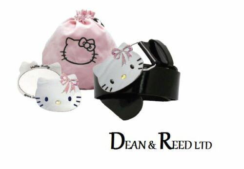 HELLO KITTY BELT /& MIRROR GIFT SET IN OWN POUCH FROM BB DESIGNS