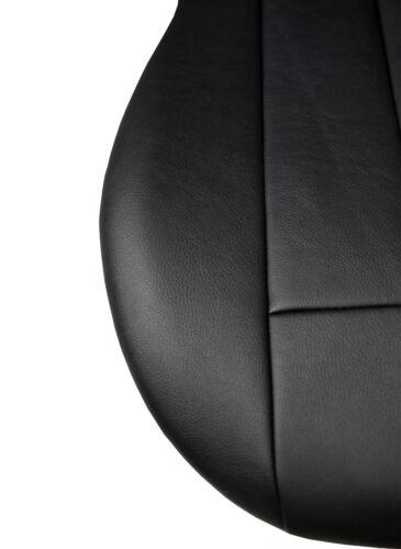 Maßgefertigte Vordersitzbezüge Kunstleder Schwarz für Opel Corsa A