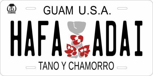 Guam 2009 Hafa Adai License Plate Personalized Custom Auto Bike Motorcycle Tag