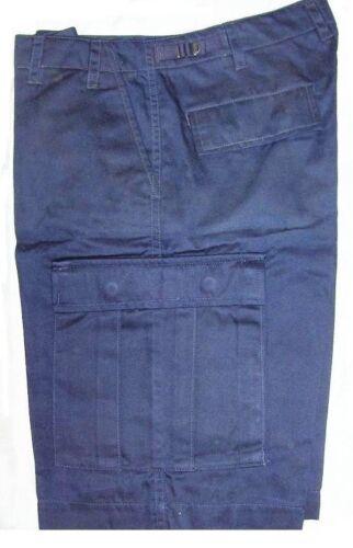 Shorts BDU Navy Blue Cargo 6 Pockets Size Small 27-31inch