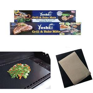 Yoshi Grill Bake Nonstick Bbq 2 Mats Pack Easy Baking