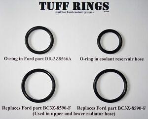 O-Rings for DR3Z8566A (DR3Z8566B) 2x BC3Z8590F & Reservoir hose, GUARANTEED FIT!