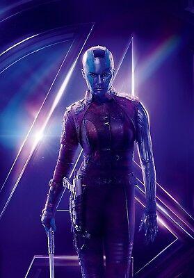 Avengers Infinity War Textless Character Poster Nebula Karen Gillan Ebay