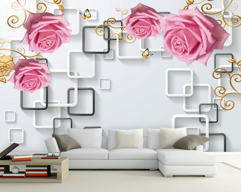3D Rosa Rosan Rahmen 84 Tapete Wandgemälde Tapete Tapeten Tapeten Tapeten Bild Familie DE Summer | eine große Vielfalt  | Räumungsverkauf  |  f2c00b