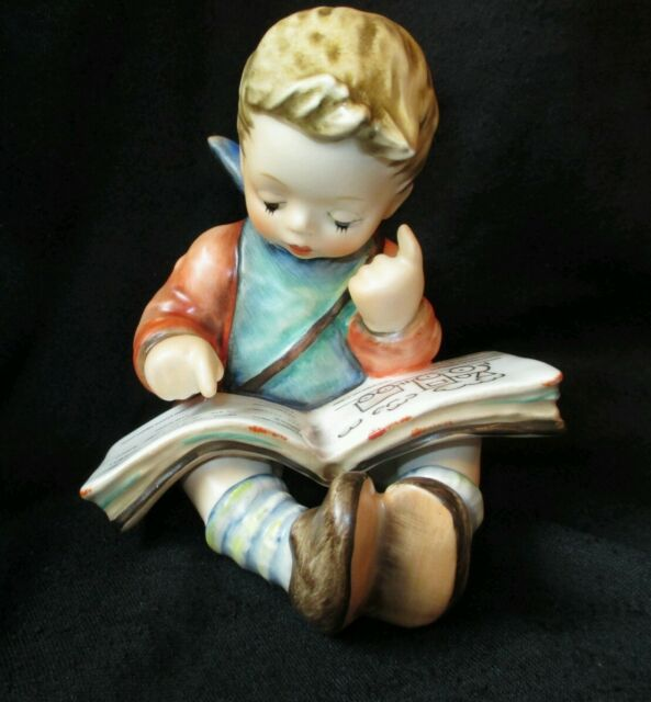 Goebel #HUMMEL THOUGHTFUL Little Boy Reading Train Book #415 TMK6 1980 porcelain
