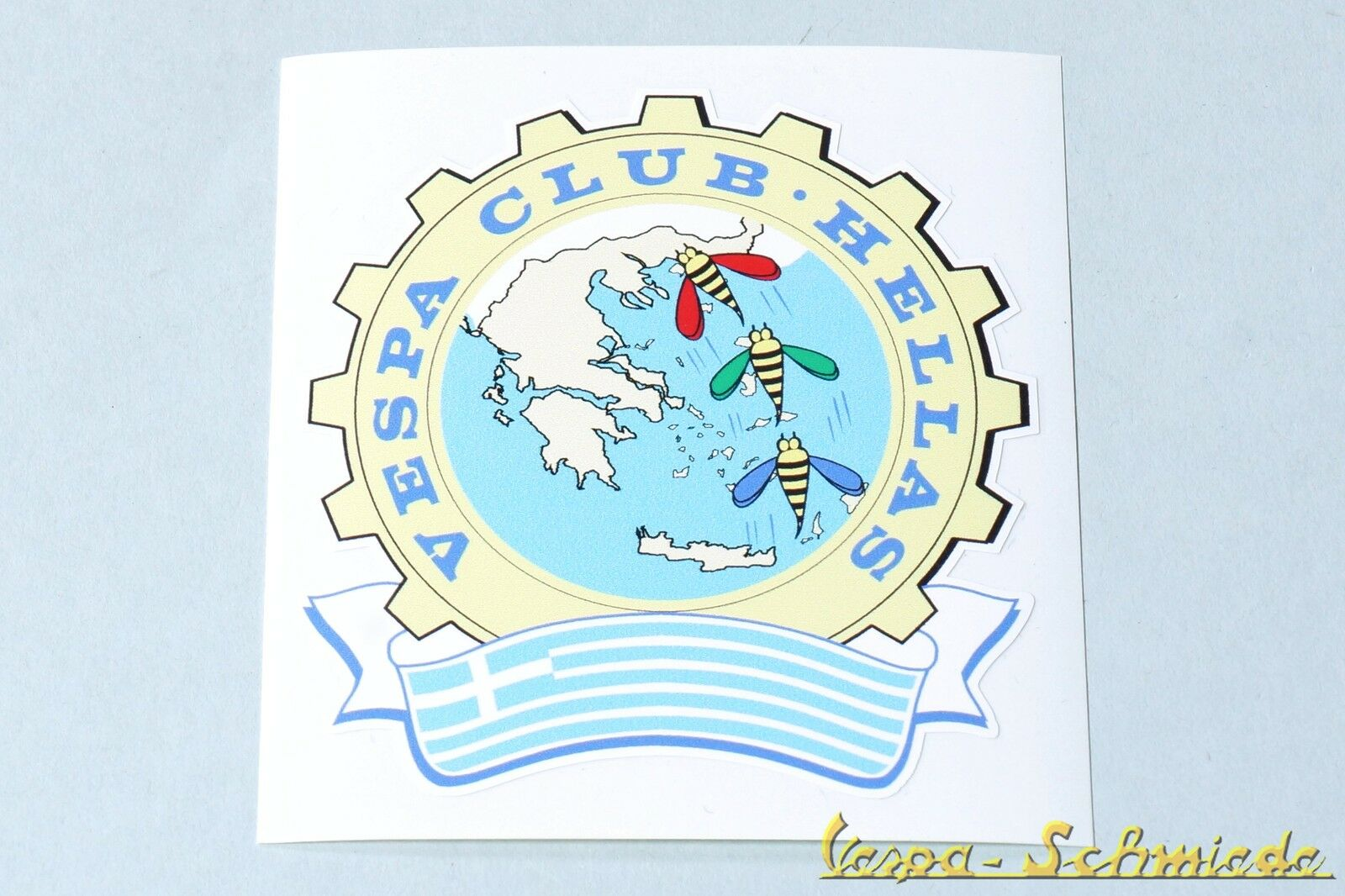 "Decor Sticker /"" Vespa Club Firenze /"" Florence Italy V50 Pk Club"