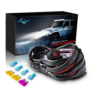 Details about 40A Relay Wiring Harness Waterproof Toggle Switch for Off  Road Car LED Light Bar