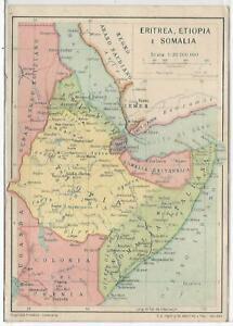 Cartina Eritrea.Colonie 176 Eritrea Etiopia E Somalia Cartina Fg Non Vg Ebay