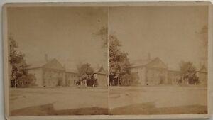 Ayuntamiento-Arquitectura-Casas-USA-Foto-Estereo-10x17-8-CM-Vintage-Albumina