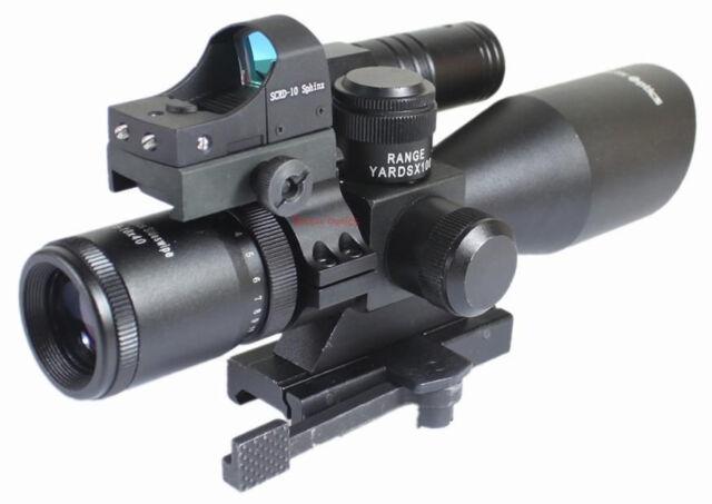 Vector Optics 2.5-10x40 Riflescope+Green Laser Sight+Red Dot Scope+Mount Combo