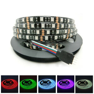 PCB-Black-5M-SMD-5050-RGB-White-300-LEDs-Waterproof-Flexible-LED-Strip-Light