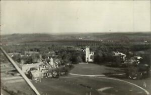 Groton MA Aerial View Used 1939 Real Photo Postcard