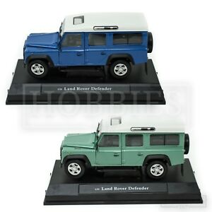 Cararama-LAND-ROVER-DEFENDER-110-1-24-scala-gradino-Blu-Verde-Oxford-Diecast-Model
