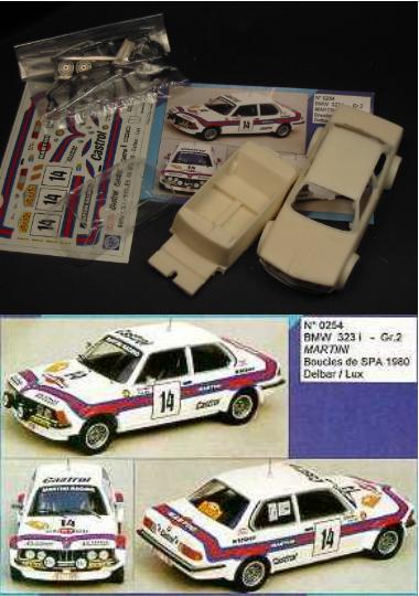 Kit BMW 323 i Gr. 2 Martini  14 Boucles de SPA 1980 - Mini Racing kit 1/43