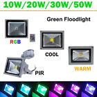 10W-50W LED Flood Light Cool Warm White RGB Flood Light IP65 PIR Landscape Lamp