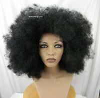 Huge Unisex Super Cool Afro Wig And Free Afro Pick .. Color 1 - Black
