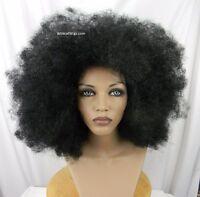 Huge Unisex Super Cool Afro Wig And Free Afro Pick .. Color 1 - Black