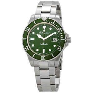 Mathey-Tissot-Mathey-Vintage-Automatic-Green-Dial-Men-039-s-Watch-H9010ATV