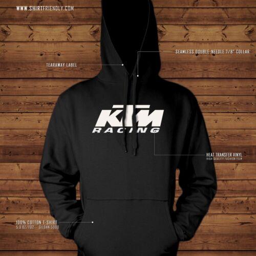 NEW! KTM RACING LOGO Graphic 50//50/% cotton poly Hooded Sweatshirt
