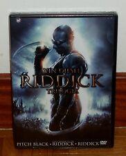 TRILOGIA RIDDICK-3 DISCHI DVD-NUOVO-SIGILLATO-NEW-SEALED-FANTASCIENZA