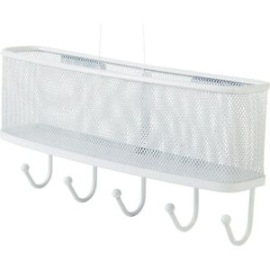 Staples-Mail-and-Key-Rack-Hanging-White-Mesh-2030226