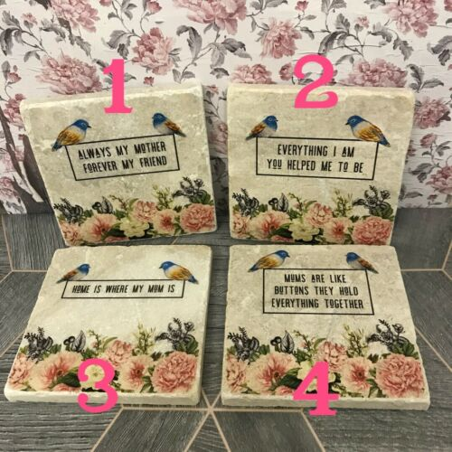 Choose 1 Happy Mothers Day Stone Coaster shabby Chic Gift Mum Quote
