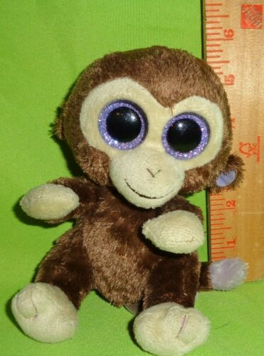 TY  Beanie Boo Coconut The Monkey Plush Stuffed Animal Toy Doll Boos