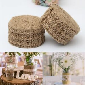 Image Is Loading Hand Craft Hessian Jute Twine Rope Burlap Ribbon