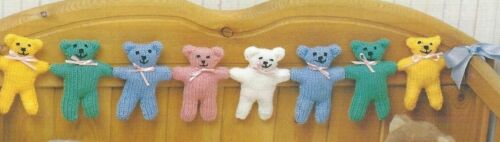 Baby Blanket Knitting Pattern DK  Toy Ball /& Teddy Bear 336