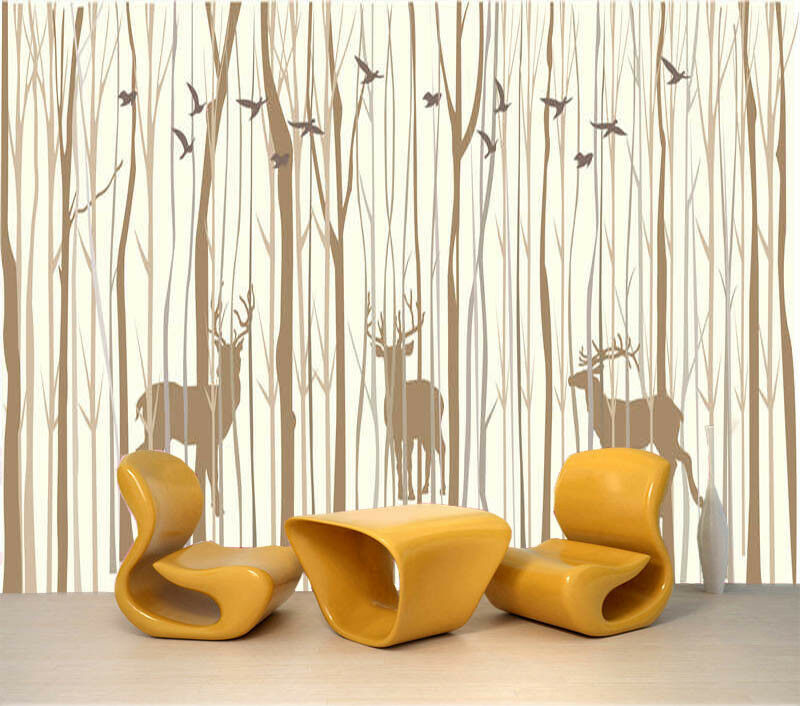 Lively Woods 3D Full Wall Mural Photo Wallpaper Printing Home Kids Decoration