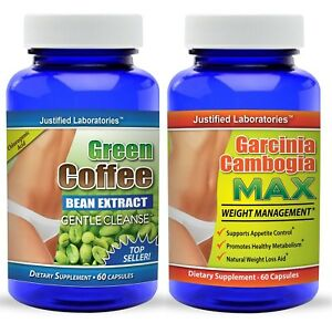 Details About Pure Green Coffee Bean Extract Cleanse Pure Garcinia Cambogia 60 Hca 120 Pills