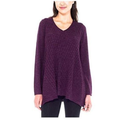 SALE Beatrix Ost Women/'s Ribbed Knit Long Sleeve V-Neck Tunic Sweater VARIETY!