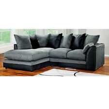 Dylan Byron Corner Group Sofa Right and Left ,Brown and Black, Foam Seats